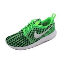 Nike Women's Roshe One Flyknit Voltage Green/White-Lucid Green 704927-305
