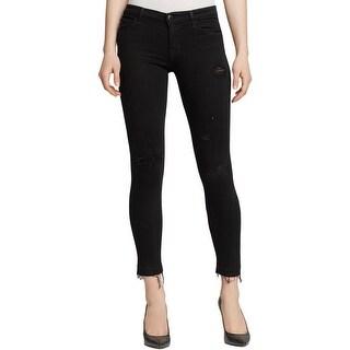 J Brand Womens Capri Jeans Destroyed Released Hem