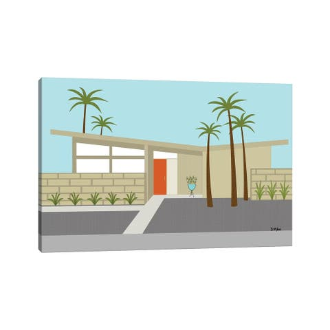 """iCanvas """"Mid Century House I"""" by Donna Mibus Canvas Print"""