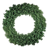 "60"" Commercial Size Colorado Pine Artificial Christmas Wreath - Unlit - green"