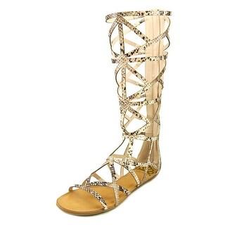Fergalicious Graceful Women Open Toe Leather Gladiator Sandal