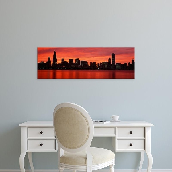 Easy Art Prints Panoramic Images's 'Skyscrapers at the waterfront, Chicago, Illinois, USA' Premium Canvas Art