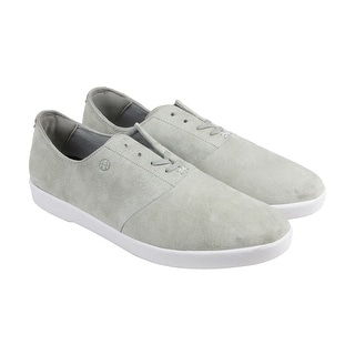 HUF Gillette Mens Gray Leather Lace Up Lace Up Sneakers Shoes