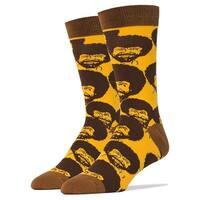 Bob Ross Flash Mob Men's Crew Socks, Gold