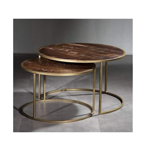 Round Nesting Cocktail Table Set of 2