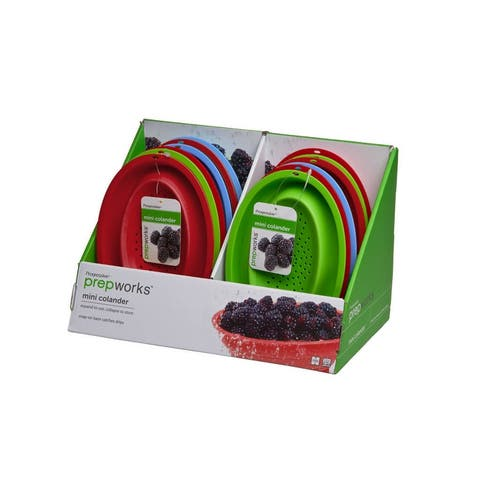 Prepworks by Progressive CC-60CDP Collapsible Mini Colander, Assorted Colos, Pack of 12