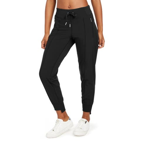 Calvin Klein Performance Womens Track Pants Fitness Running - Charcoal Grey - M