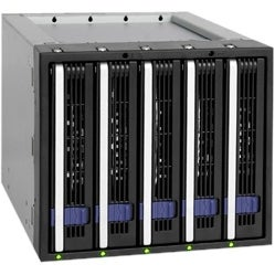 """Icy Dock MB155SP-B Icy Dock MB155SP-B DAS Array - 5 x HDD Supported - Serial ATA/600 Controller - 5 x Total Bays - SATA"