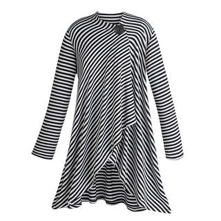 Women's Tunic Jacket - Blue and White Striped - One Button Wrap|https://ak1.ostkcdn.com/images/products/is/images/direct/3400c52142220a5cc0d9c3cd22c73834b1fdca45/Women%27s-Tunic-Jacket---Blue-And-White-Striped---One-Button-Wrap.jpg?impolicy=medium