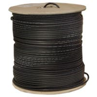 Offex Quad Shielded Bulk RG6 Coaxial Cable, Black, 18 AWG, Solid Core, Spool, 1000 foot