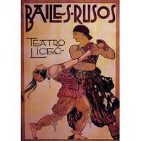 ''Bailes-Rusos'' by Anon Vintage Advertising Art Print (36 x 25 in.)