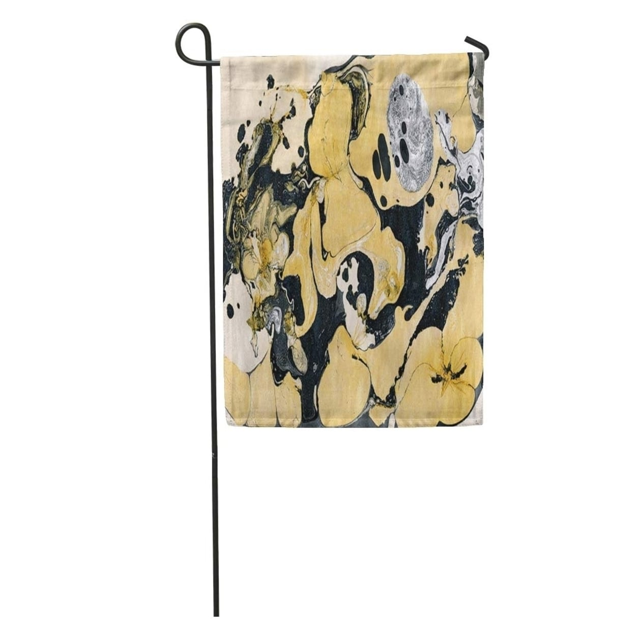 Shop Colorful Gold Golden And Black Marble Ink Abstract Painting Beautiful Gray Mint Garden Flag Decorative Flag House Banner Overstock 31346507