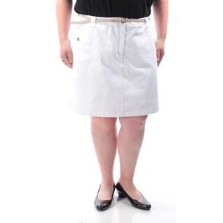 KAREN SCOTT $93 Womens New 1276 White Belted Casual Short Plus 20 B+B