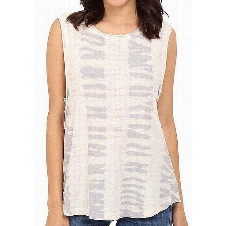 LAmade Womens Top White Ivory Size Medium M Tank Cami Cutout Side