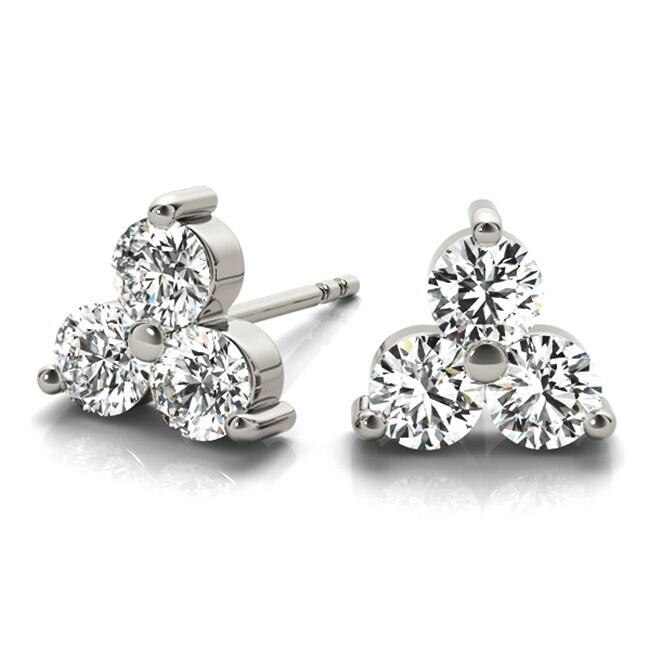 0.25ct Genuine Round Diamond 10k Yellow Gold 1//4ct Cluster Flower Stud Earrings
