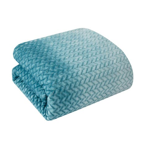 Ombre Plush Bed Blanket