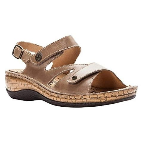 Propet Propet Women's Jocelyn Leather, Polyurethane Slingback Sandals