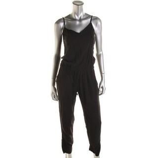 Splendid Womens V-Neck Strappy Jumpsuit - M