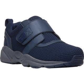 Propet Men's Stability X Hook and Loop Sneaker Navy Mesh