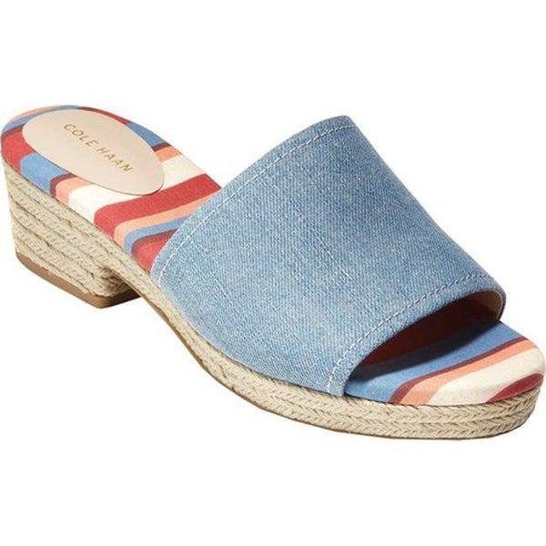 1adb56c8870 Shop Cole Haan Women's Giselle Mid Espadrille Slide Riverside/Denim ...