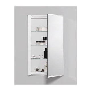 "Robern RC1626D4FB1 R3 16"" x 26"" x 4"" Beveled Single Door Medicine Cabinet with Reversible Hinge"