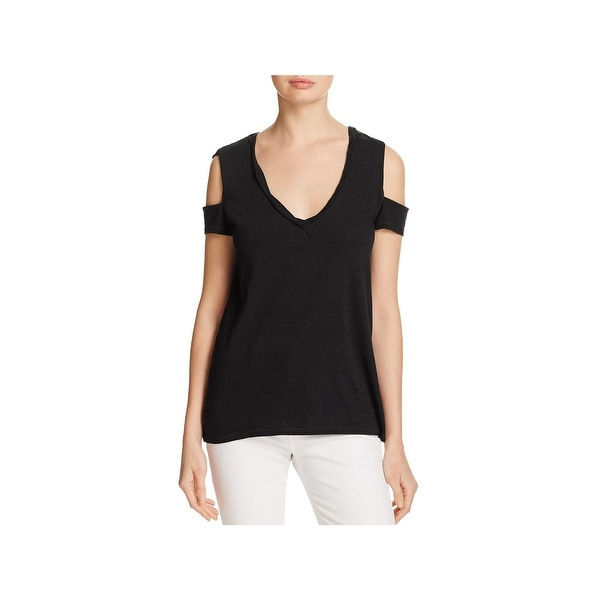 95735fc1b6476 Shop Pam   Gela Womens Pullover Top Jersey Cold Shoulder - Free ...