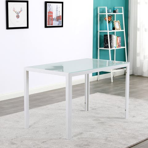 Modern Rectangle White Dining Table
