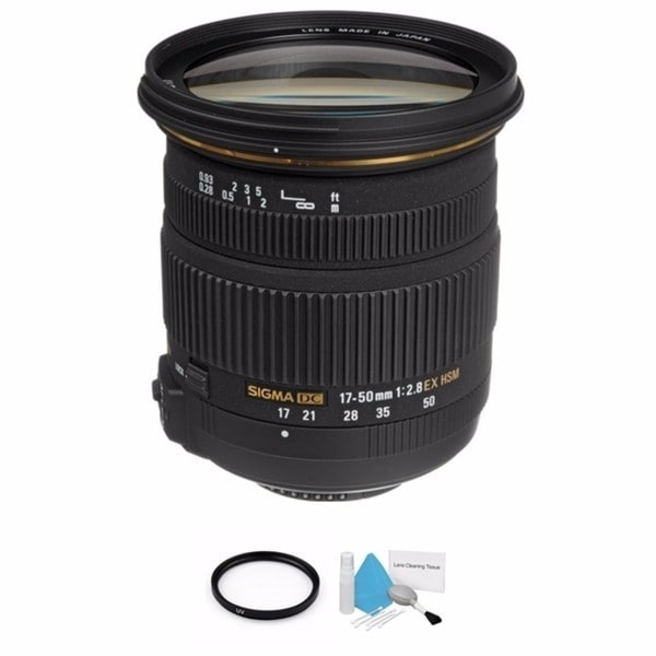 Sigma 17-50mm f/2.8 Lens for Nikon Lens Bundle