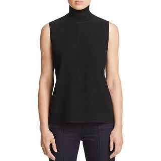 Elie Tahari Womens Blouse Turtleneck Sleeveless