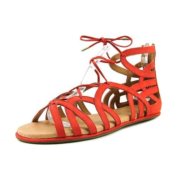 Gentle Souls Break My Heart 3 Women Open Toe Leather Red Gladiator Sandal