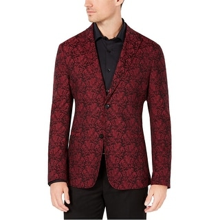 Link to Ryan Seacrest Mens Jacquard Two Button Blazer Jacket Similar Items in Sportcoats & Blazers
