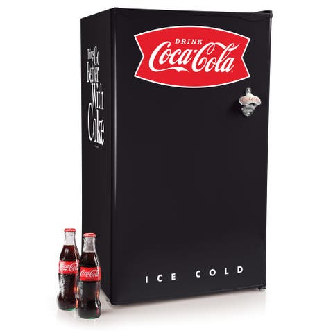 Coca-Cola CRF32BKCK 3.2 Cu. Ft. Refrigerator With Freezer, Black