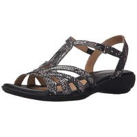 Naturalizer Womens Cassie Leather Open Toe Casual Slingback Sandals