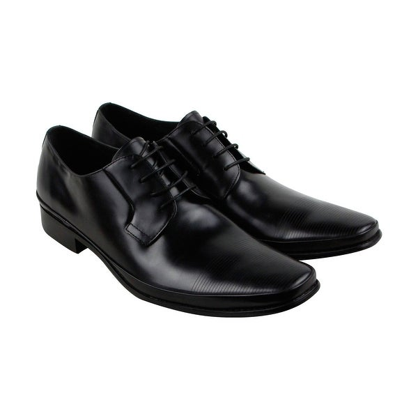 Kenneth Cole New York Steep Hill Mens Black Casual Dress Oxfords Shoes