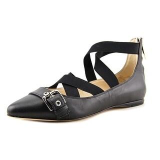 Nine West Smoak   Round Toe Leather  Ballet Flats