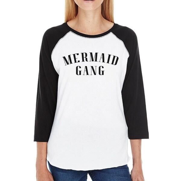 d7559cca6 Shop Mermaid Gang Womens 3/4 Sleeve Baseball Tee Cute Summer Graphic ...