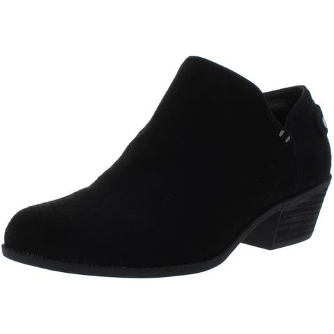 Dr. Scholl's Womens Better Ankle Boots Faux Suede Perforated
