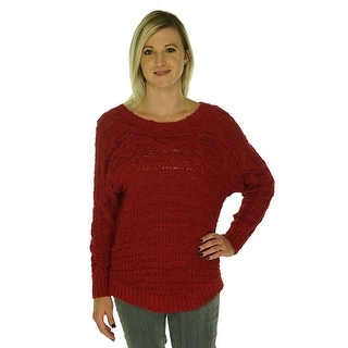 INC International Concepts Cable Knit Pullover Sweater - L