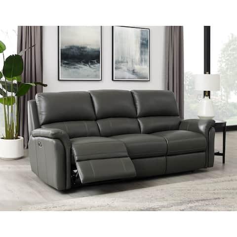 Hydeline Erindale Leather Power Reclining Sofa