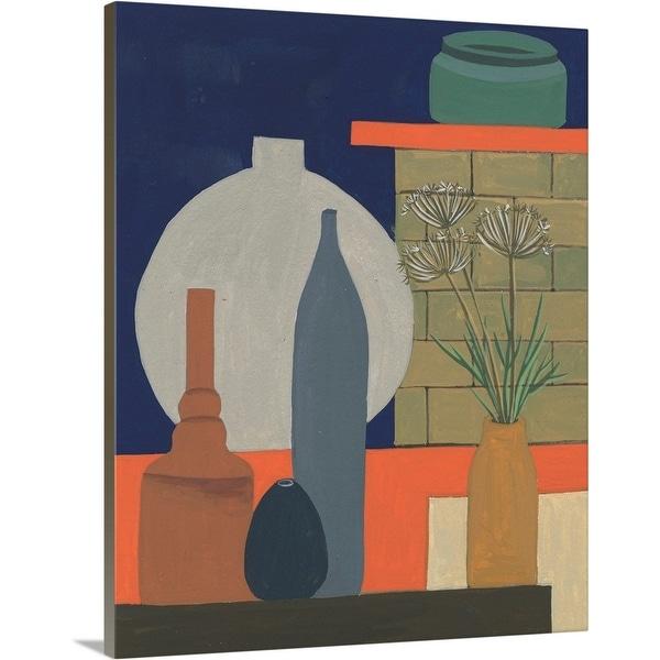 """""""Vases on a Shelf IV"""" Canvas Wall Art"""