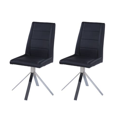 Somette Trinity Channel Back Pyramid Base Chair (Set of 2) - 24 x 18 x 38