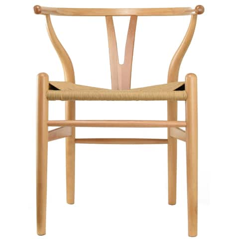 Dining Armchair with Woven Paper-cord Seat