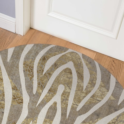 ZEBRA GOLD Indoor Floor Mat By Kavka Designs