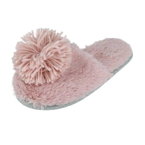 Kensie Women's Slide Slippers with Pom
