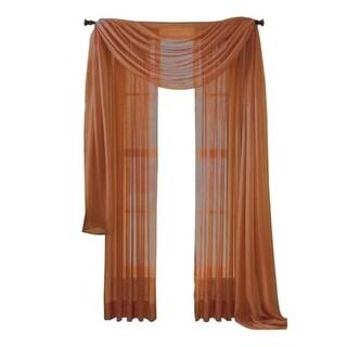 "Moshells 90"" Sheer Curtain Panel -  Rust"