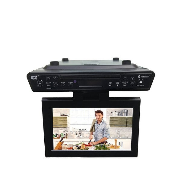 "SylvaniaSKCR2706BT 10.2""Under Cabinet Kitchen TV w/Built in DVD Player Manufacturer Refurbished"