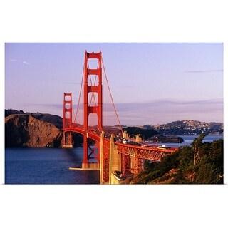 """Golden Gate Bridge, sunset"" Poster Print"