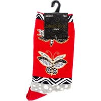 Laurel Burch Socks-Butterfly