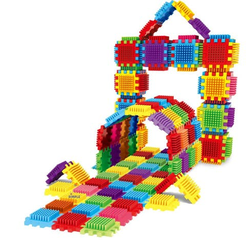 360-Piece Set Large Stacking Blocks and Interconnecting Building Set, Makes 60 Blocks, Great Toy for Kids & Toddlers by Dimple