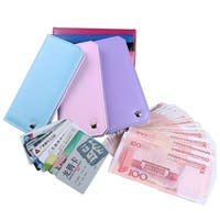 Crown Long Ladies Fashion Candy Color Multi Card Wallet Card Bag Ladies.